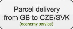 Parcel delivery from UK to CZE/SVK (economy service)