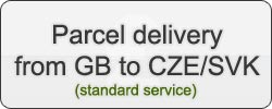 Parcel delivery from GB to CZE/SVK (standard service)